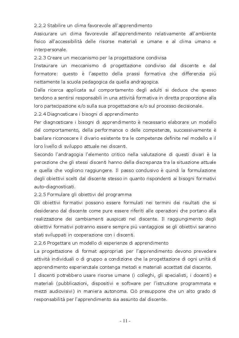 Estratto dalla tesi: I Bisogni Formativi del Personale del Dipartimento Alimenti dell'Istituto Zooprofilattico della Sicilia