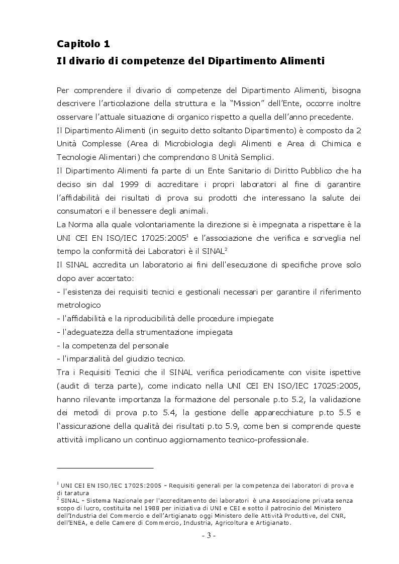 Anteprima della tesi: I Bisogni Formativi del Personale del Dipartimento Alimenti dell'Istituto Zooprofilattico della Sicilia, Pagina 5