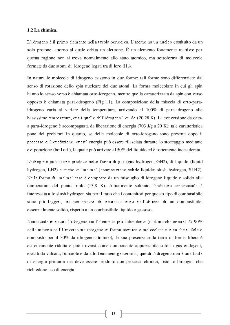 Estratto dalla tesi: Dall'economia del carbonio all'economia dell'idrogeno: produzione del gas e suo utilizzo in fuel cells.