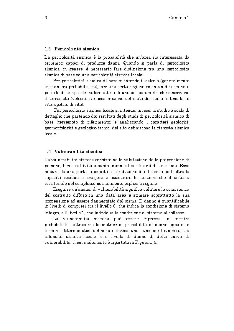Estratto dalla tesi: Stima della vulnerabilità sismica di edifici in struttura mista muratura-calcestruzzo armato