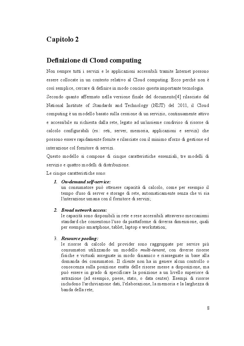 Estratto dalla tesi: Sviluppo di un sistema di gestione del carico di elaborazione dati su infrastruttura cloud di Amazon