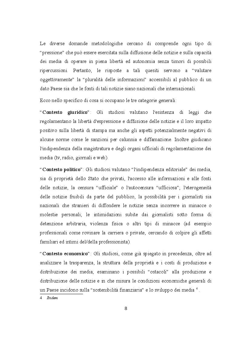 Estratto dalla tesi: Il diritto-dovere della libertà d'informazione: confronto fra la stampa italofona e quella anglofona