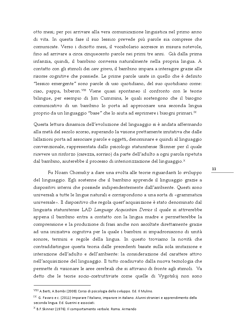 Estratto dalla tesi: CLIL a piccoli passi verso il bilinguismo. Dalla routine della scuola dell'infanzia alla matematica della scuola primaria