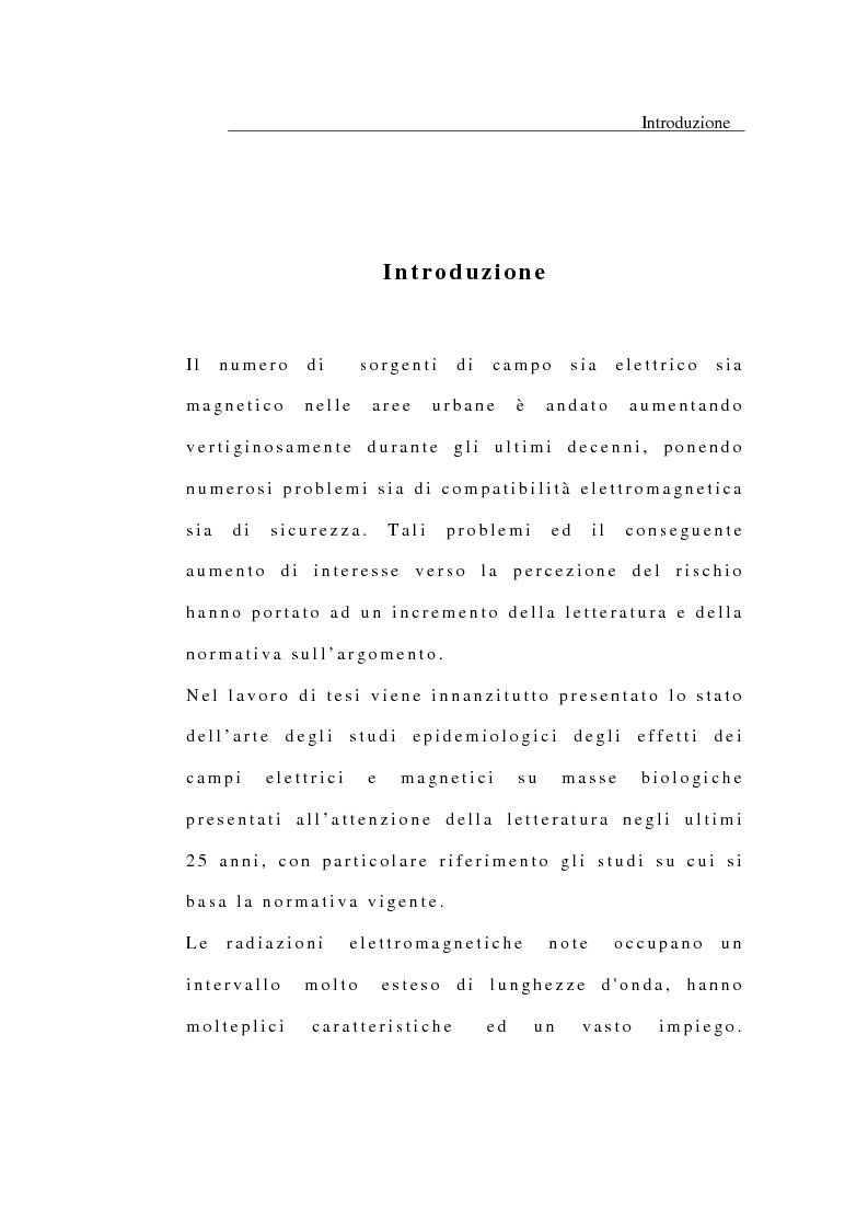 Anteprima della tesi: Modelli per lo studio degli effetti sul corpo umano di campi elettrici e magnetici, Pagina 1