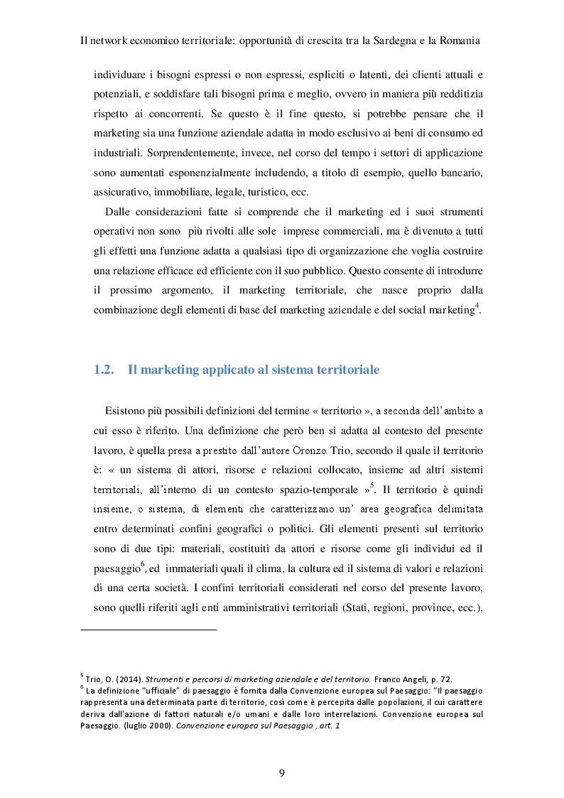 Estratto dalla tesi: Il network economico territoriale: opportunità di crescita tra la Sardegna e la Romania
