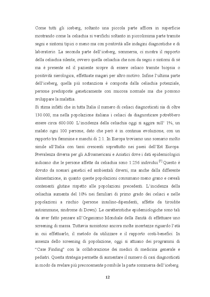 Estratto dalla tesi: La malattia celiaca: realtà italiana ed estera a confronto e l'implementazione dell'infermiere case manager nell'assistenza al paziente celiaco