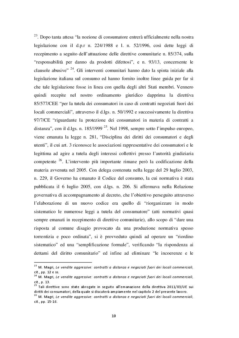 Estratto dalla tesi: I contratti a distanza nell'attuazione della direttiva 2011/83/UE sui diritti dei consumatori: prospettiva comparatistica