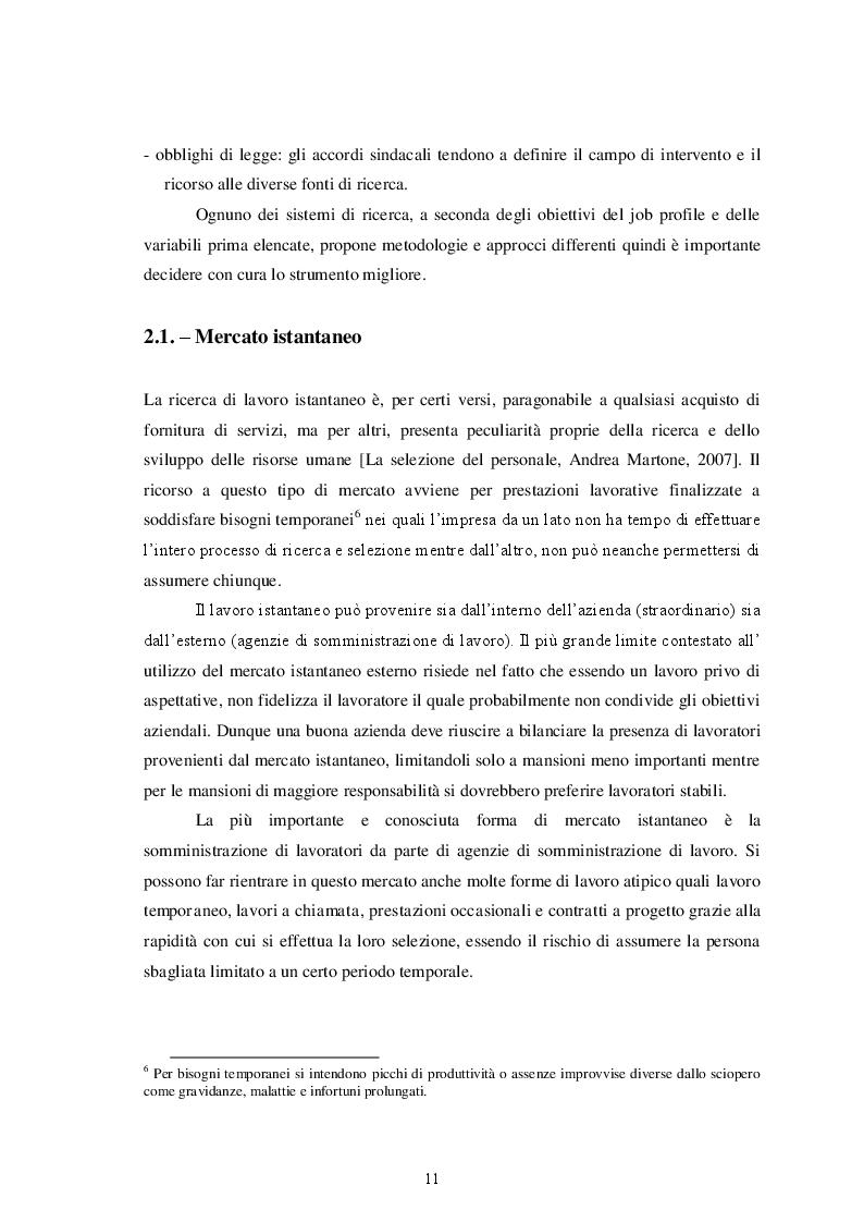 Estratto dalla tesi: Ricerca e selezione del personale
