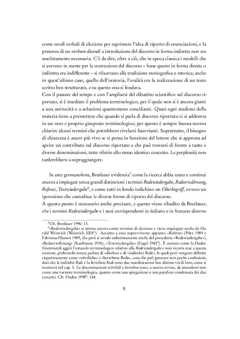"""Estratto dalla tesi: Discorso riportato e traduzione: un'analisi contrastiva delle traduzioni italiana e francese di """"Der Atem"""", """"Ja"""" e """"Verstörung"""" di Thomas Bernhard."""