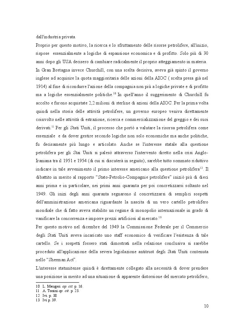 Estratto dalla tesi: Enrico Mattei e la ''Formula Eni'': l'ingresso italiano in Iran e le prospettive dell'accordo ENI-NIOC