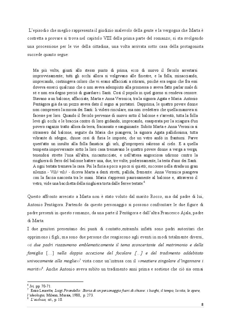 Estratto dalla tesi: La maschera delle donne nei romanzi di Pirandello