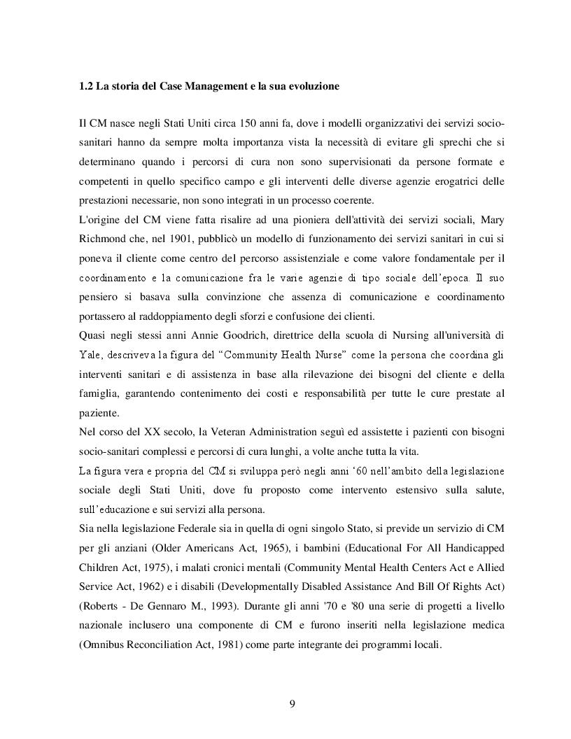 Estratto dalla tesi: Case Management e Scompenso Cardiaco: l'esperienza bolognese del Policlinico S.Orsola - Mapighi