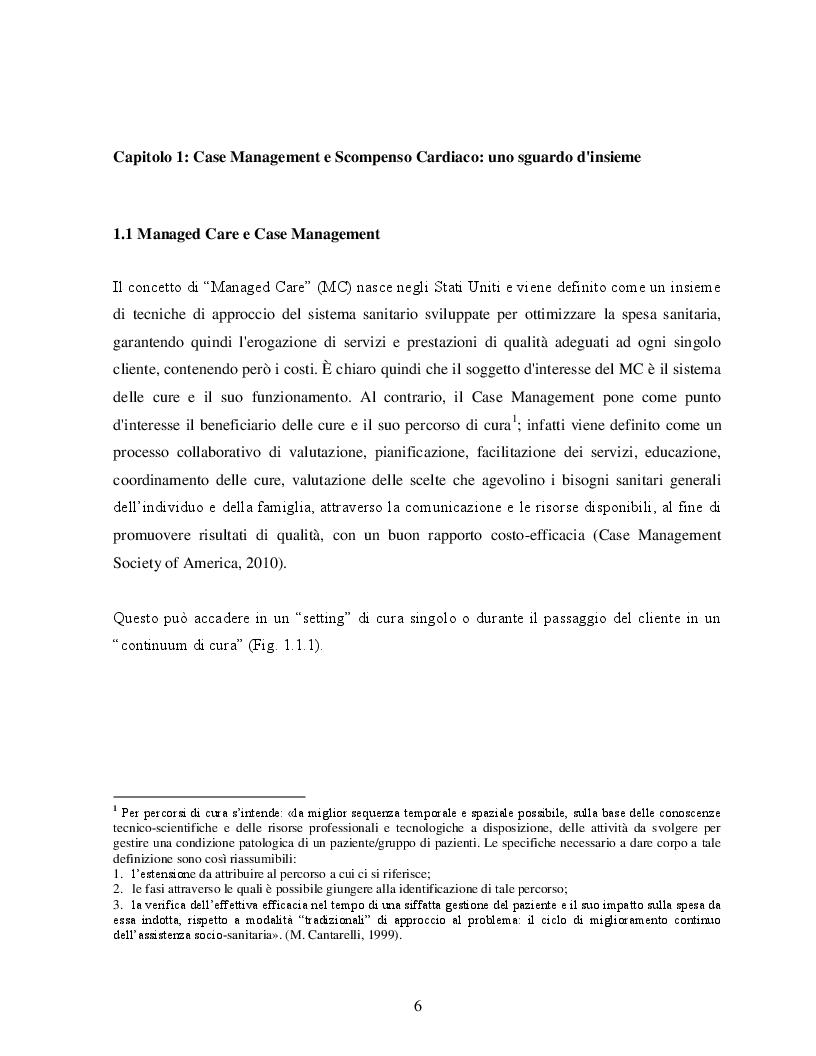 Case Management e Scompenso Cardiaco: l'esperienza bolognese del Policlinico S.Orsola - Mapighi - Tesi di Laurea