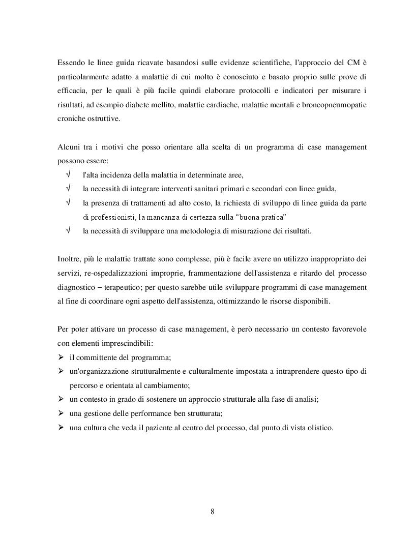 Anteprima della tesi: Case Management e Scompenso Cardiaco: l'esperienza bolognese del Policlinico S.Orsola - Mapighi, Pagina 4