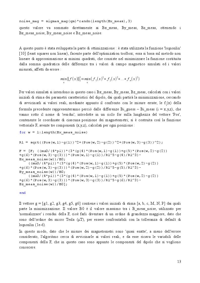 Estratto dalla tesi: Analisi e simulazione di un sistema per la misura sperimentale del dipolo magnetico residuo di micro-satelliti