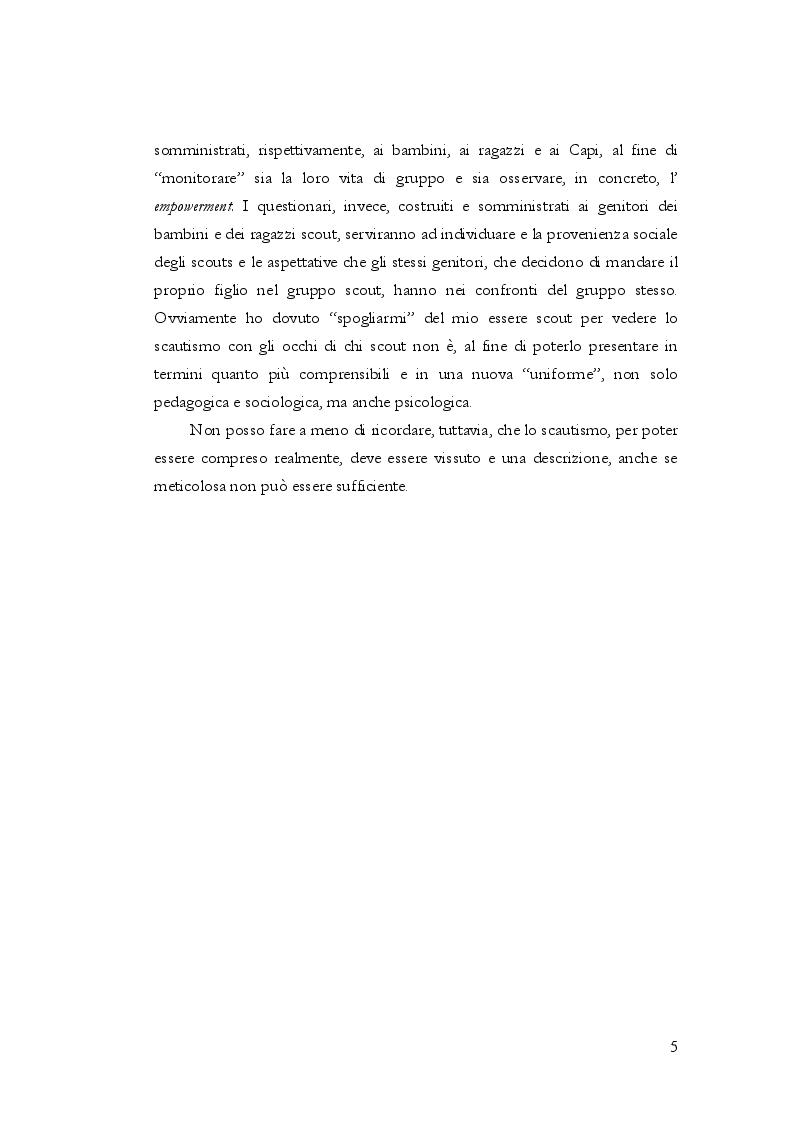 Anteprima della tesi: Implicazioni psicologico-formative del gruppo scout , Pagina 3