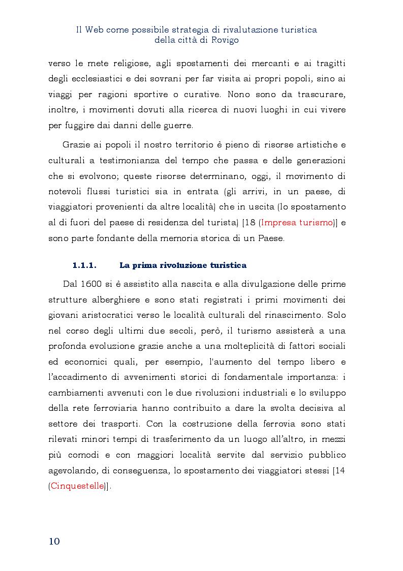 Estratto dalla tesi: Il Web come possibile strategia di rivalutazione turistica della città di Rovigo
