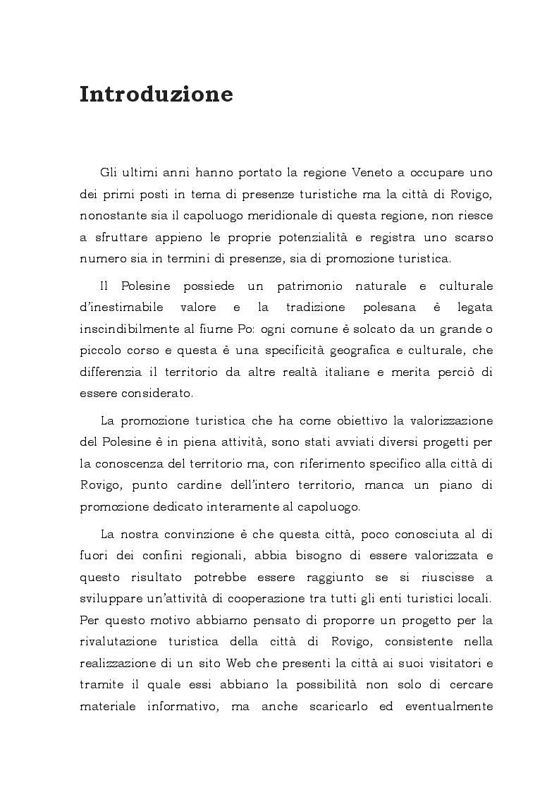 Anteprima della tesi: Il Web come possibile strategia di rivalutazione turistica della città di Rovigo, Pagina 3