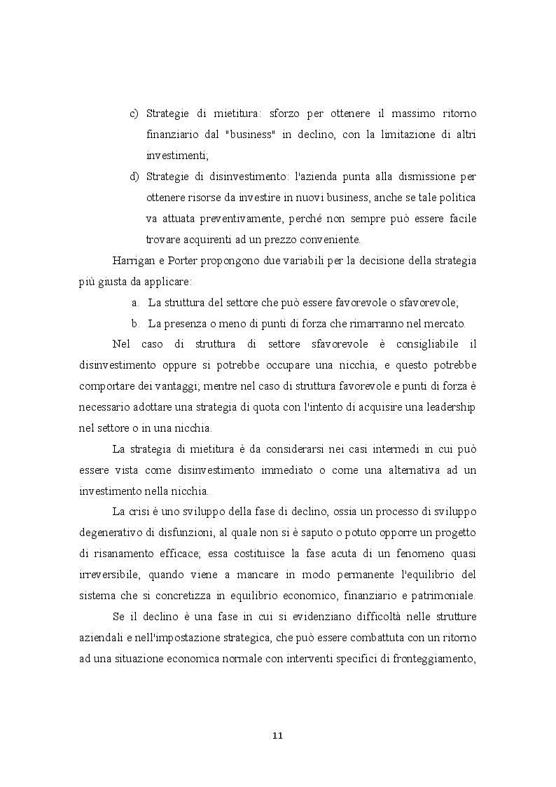 Estratto dalla tesi: La gestione strategica in un'ottima dinamica: le imprese della provincia di Bari
