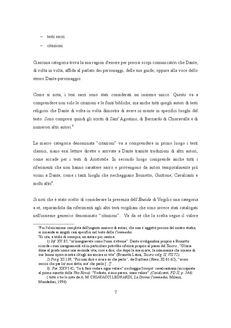 Funzioni Dialogiche Nella Commedia Di Dante Estratto Tesi