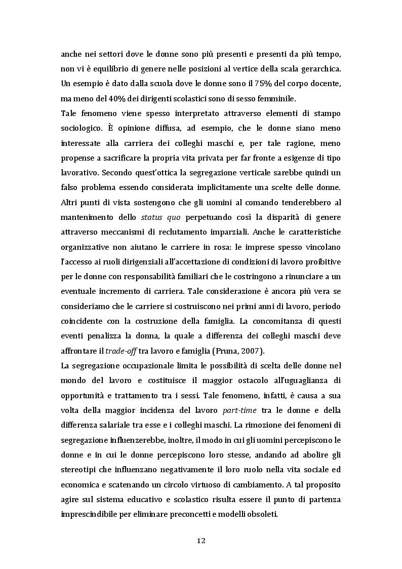 Estratto dalla tesi: La parità uomo-donna e la genitorialità nell'Unione Europea e in Italia