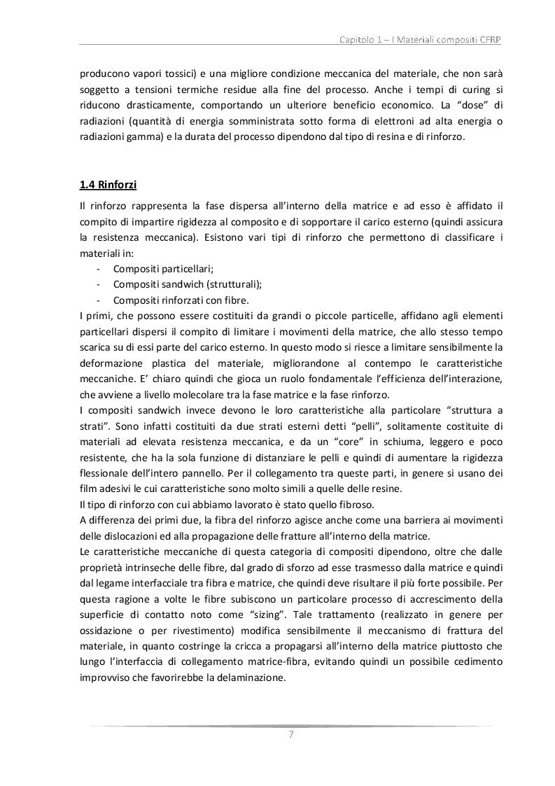 Estratto dalla tesi: Determinazione delle R-Curve relative alla frattura interlaminare in laminati CFRP: influenza del tessuto e dell'invecchiamento del materiale