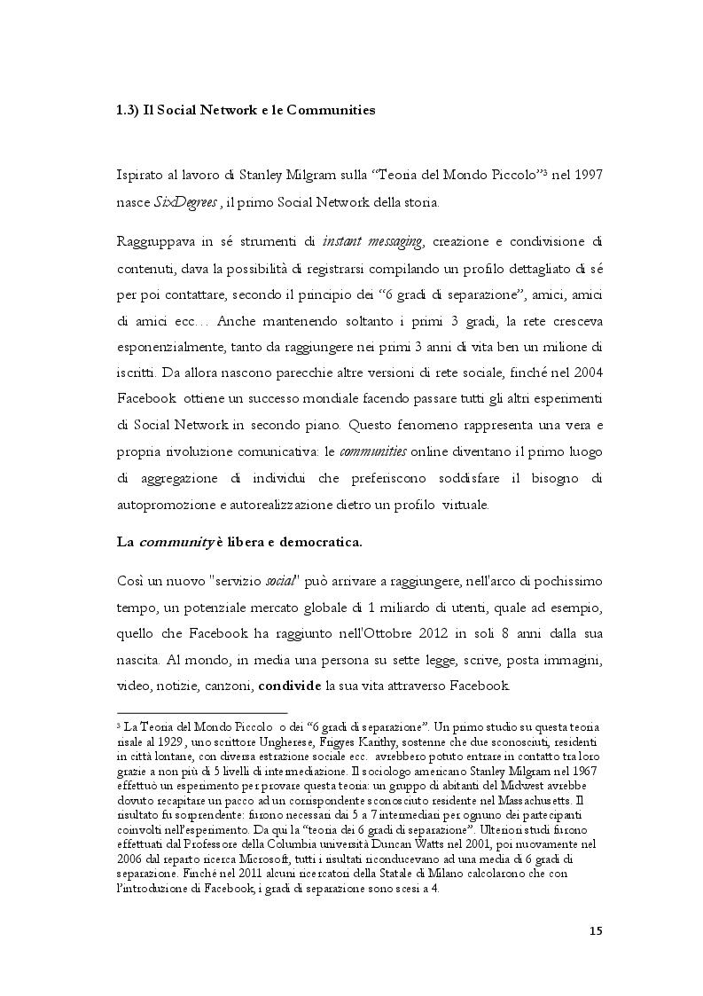 Estratto dalla tesi: Turismo 3.0 - Il Turismo Collaborativo nell'era della Sharing Economy