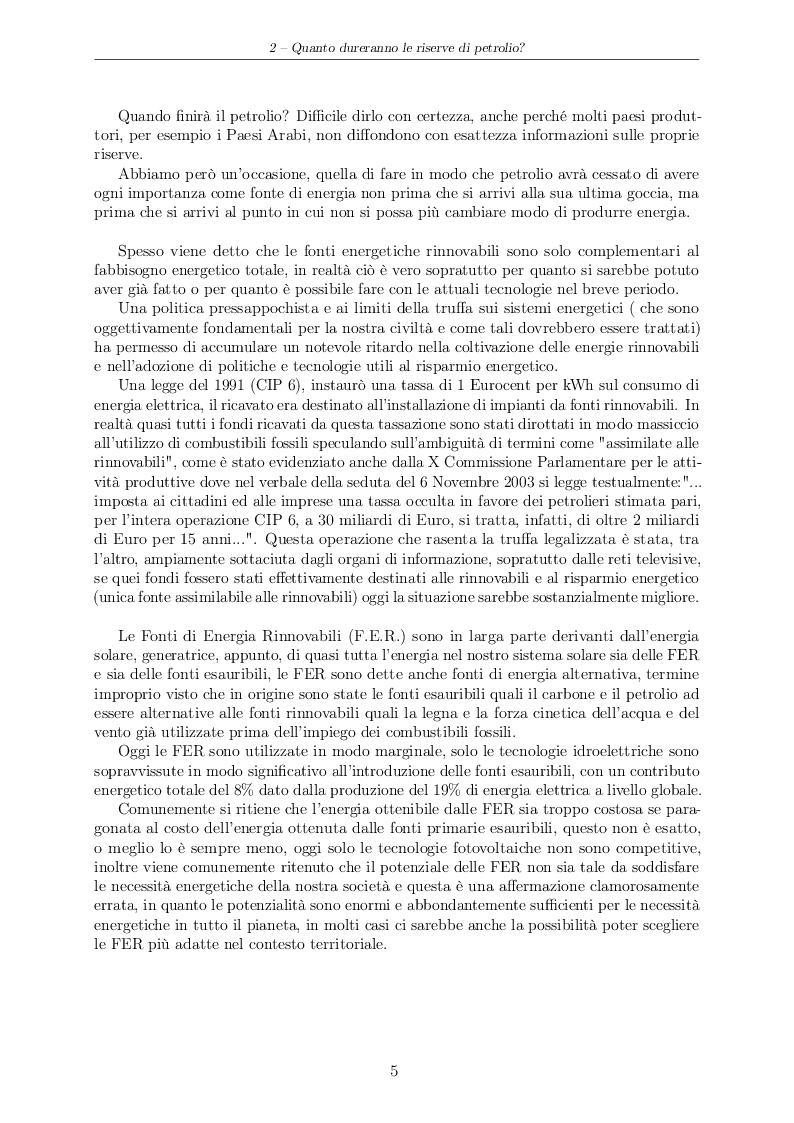 Estratto dalla tesi: Progetto di massima di una FOWT