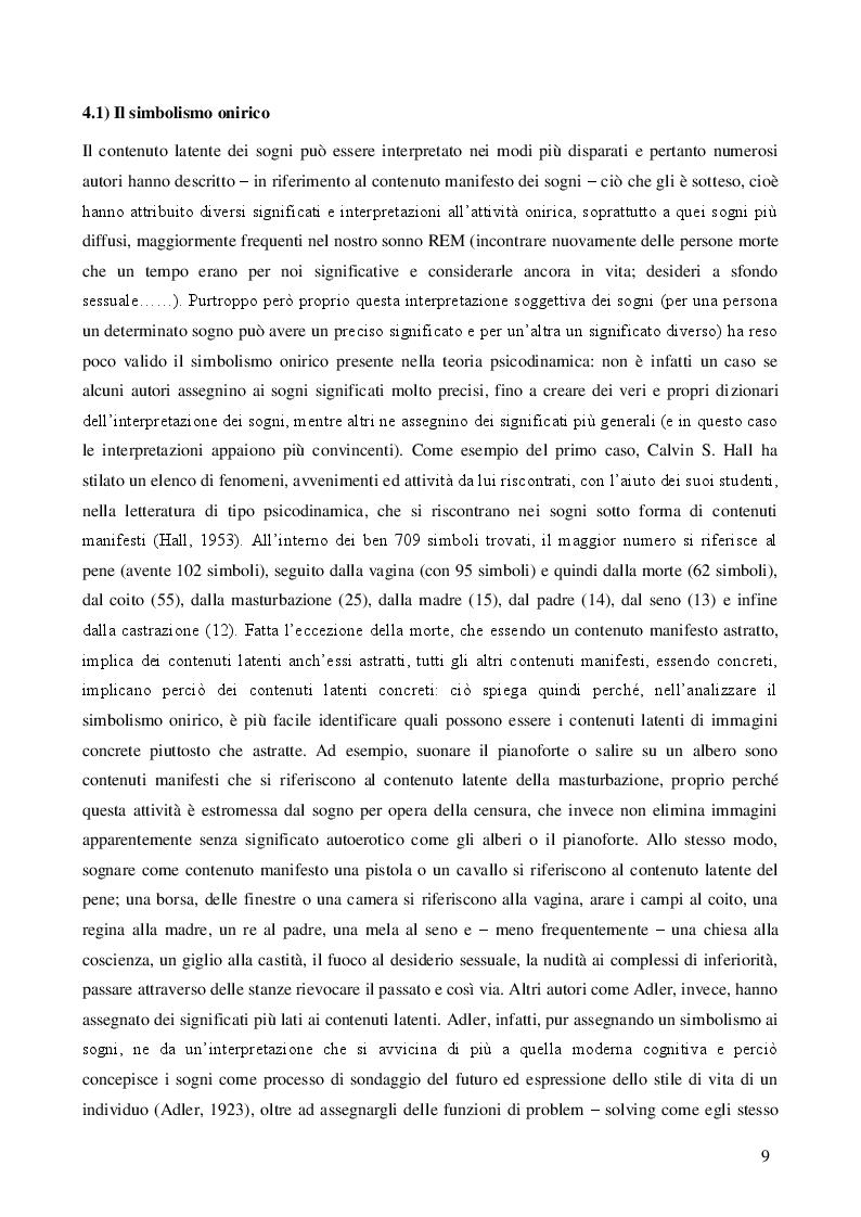 Estratto dalla tesi: I processi cognitivi nel sonno: funzionamento e ruolo adattivo