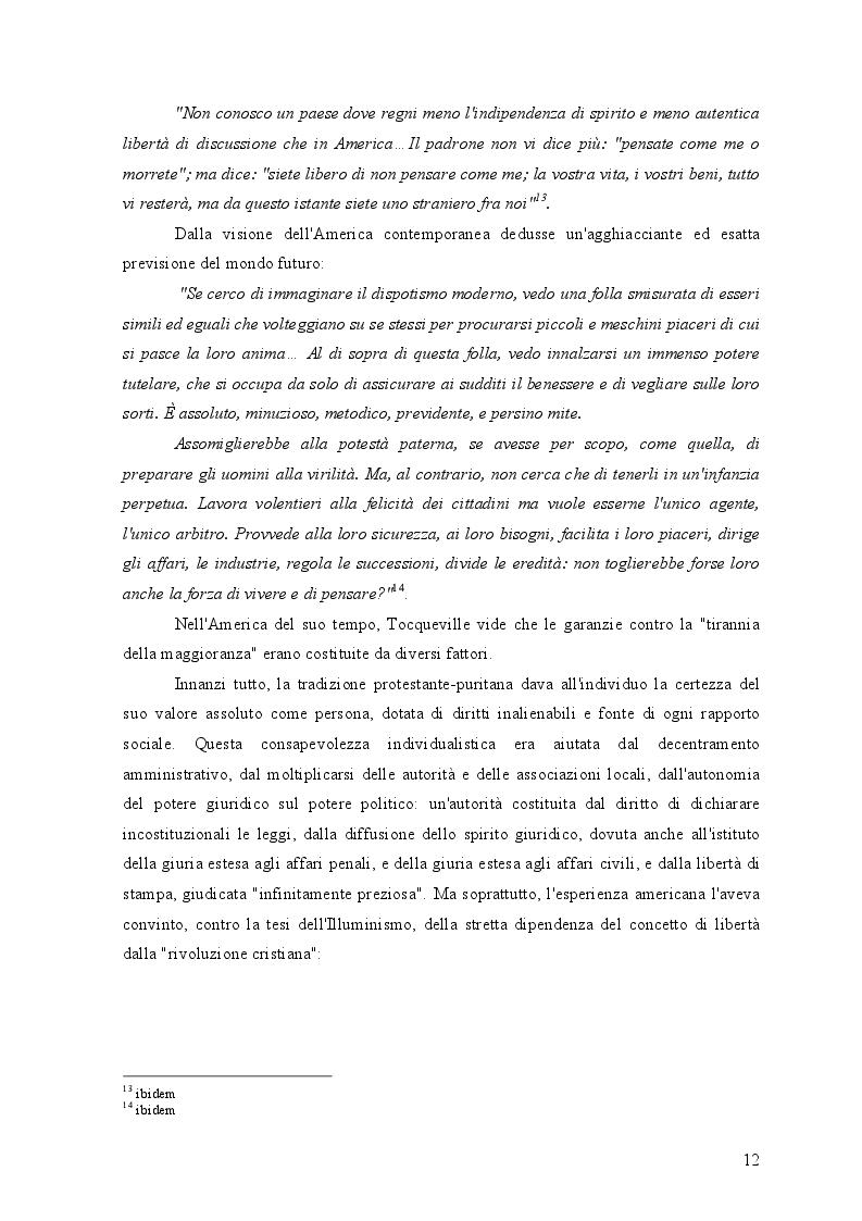 Estratto dalla tesi: Federalismo e democrazia nel pensiero politico di Alexis de Tocqueville