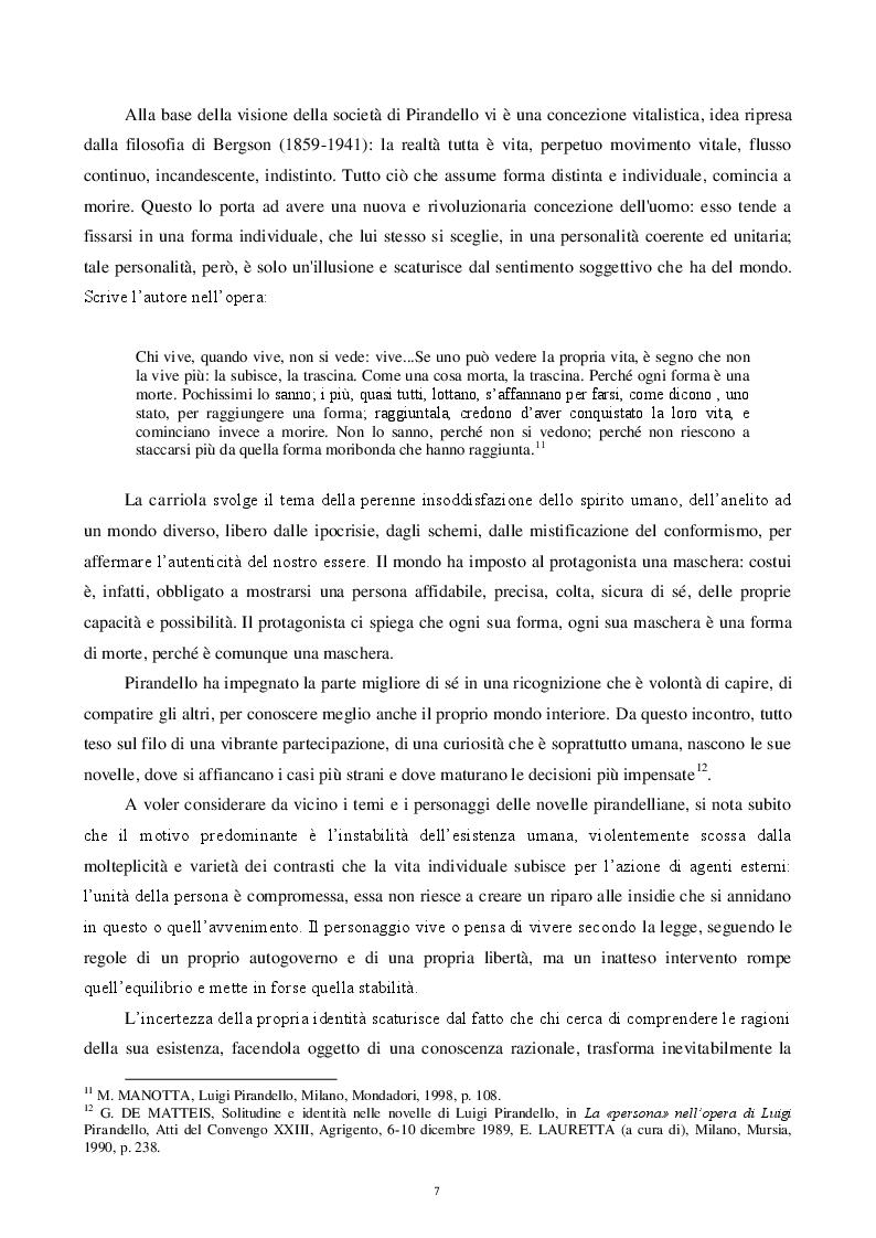 Estratto dalla tesi: La condizione dell'uomo secondo Pirandello. Analisi delle interazioni sociali dell'''uomo-attore''