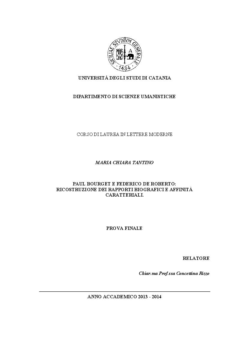 Universit degli studi di catania dipartimento di scienze for Lettere moderne