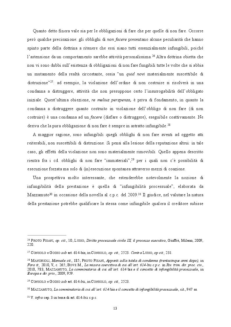Estratto dalla tesi: L'eterna incompiuta: esecuzione degli obblighi infungibili nel processo civile e amministrativo