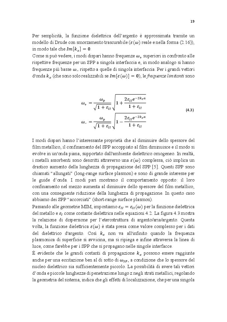 Estratto dalla tesi: Fondamenti e applicazioni della plasmonica