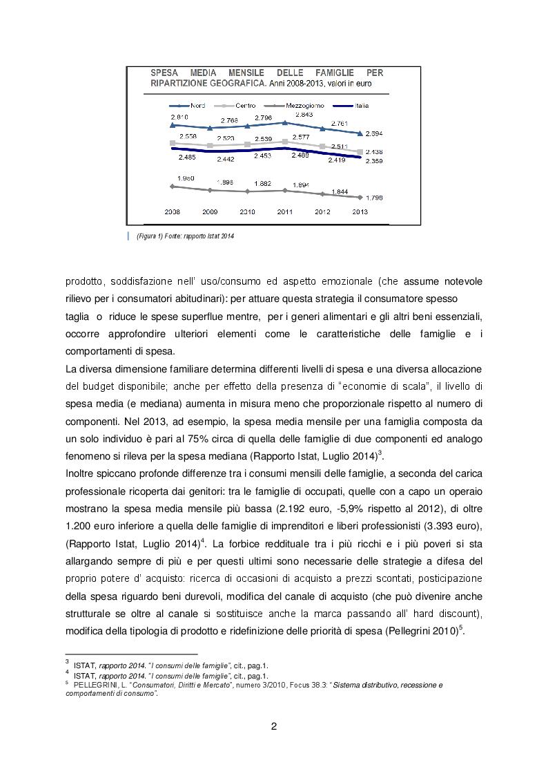 Estratto dalla tesi: Il ruolo del discount in Italia durante la recessione: il caso Eurospin
