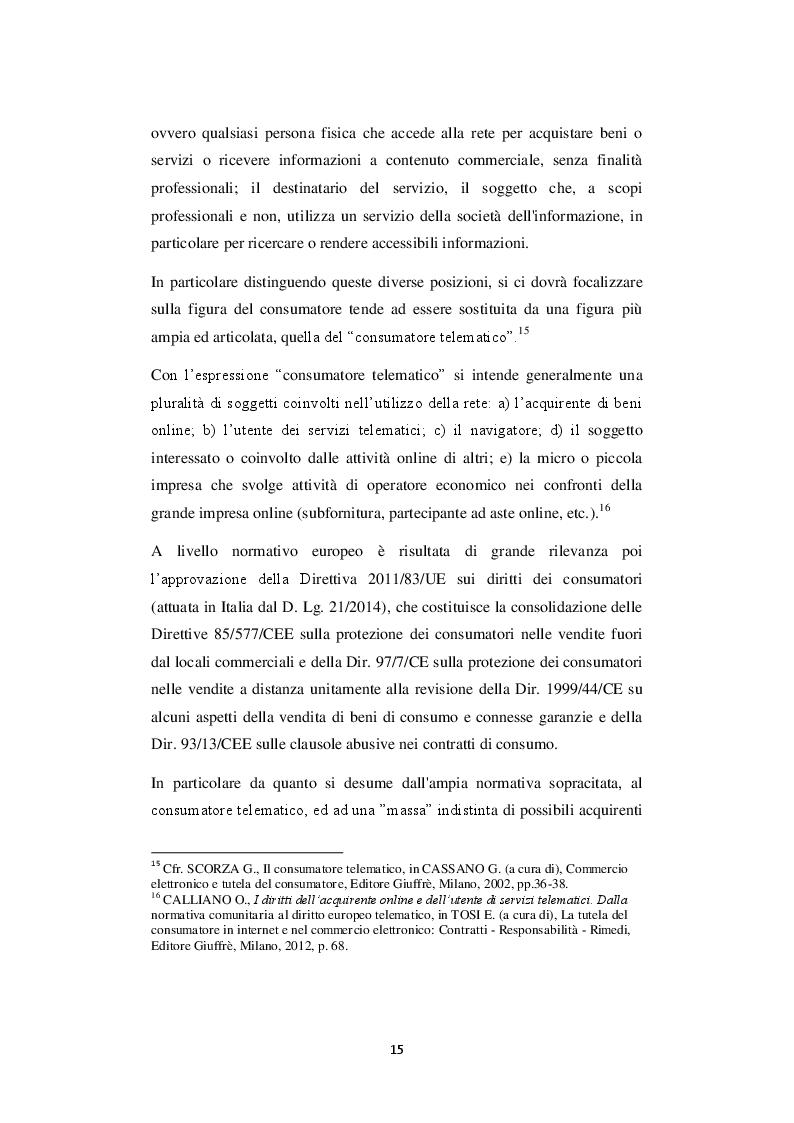 Estratto dalla tesi: Le procedure di trasparenza nella conclusione del contratto telematico