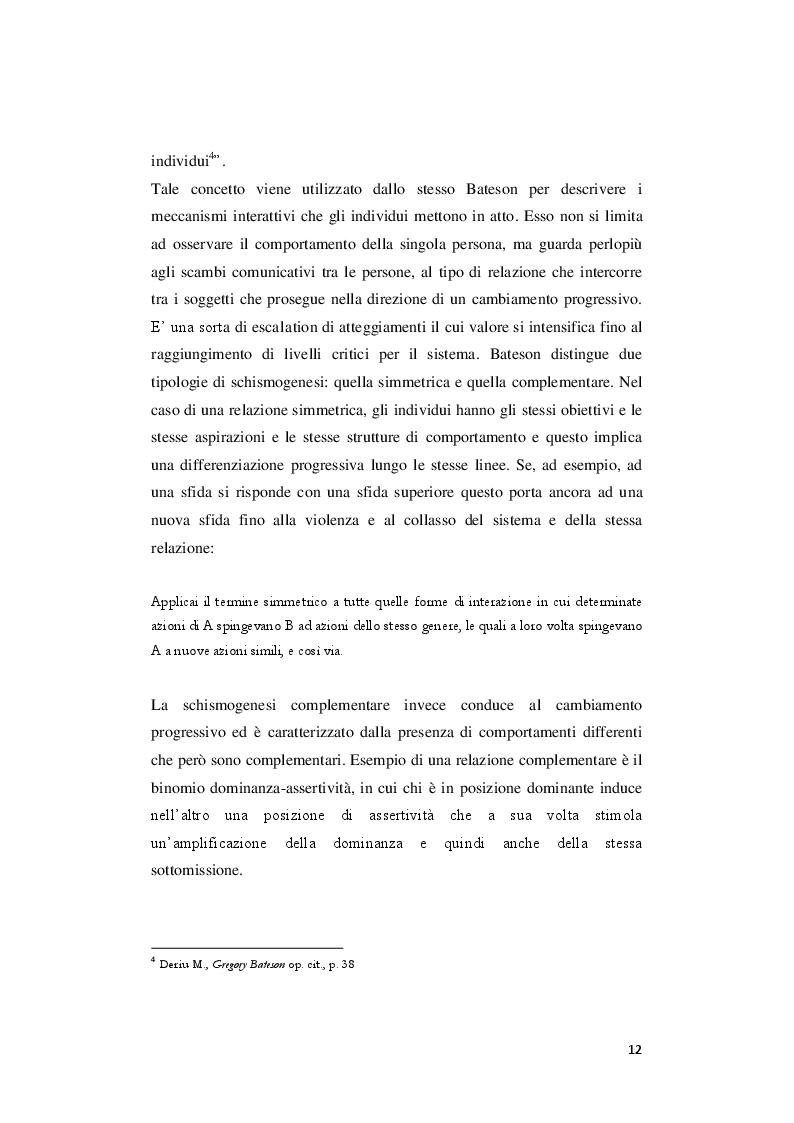 Estratto dalla tesi: Una visione olistica del mondo: dall'ecologia della mente al doppio vincolo.