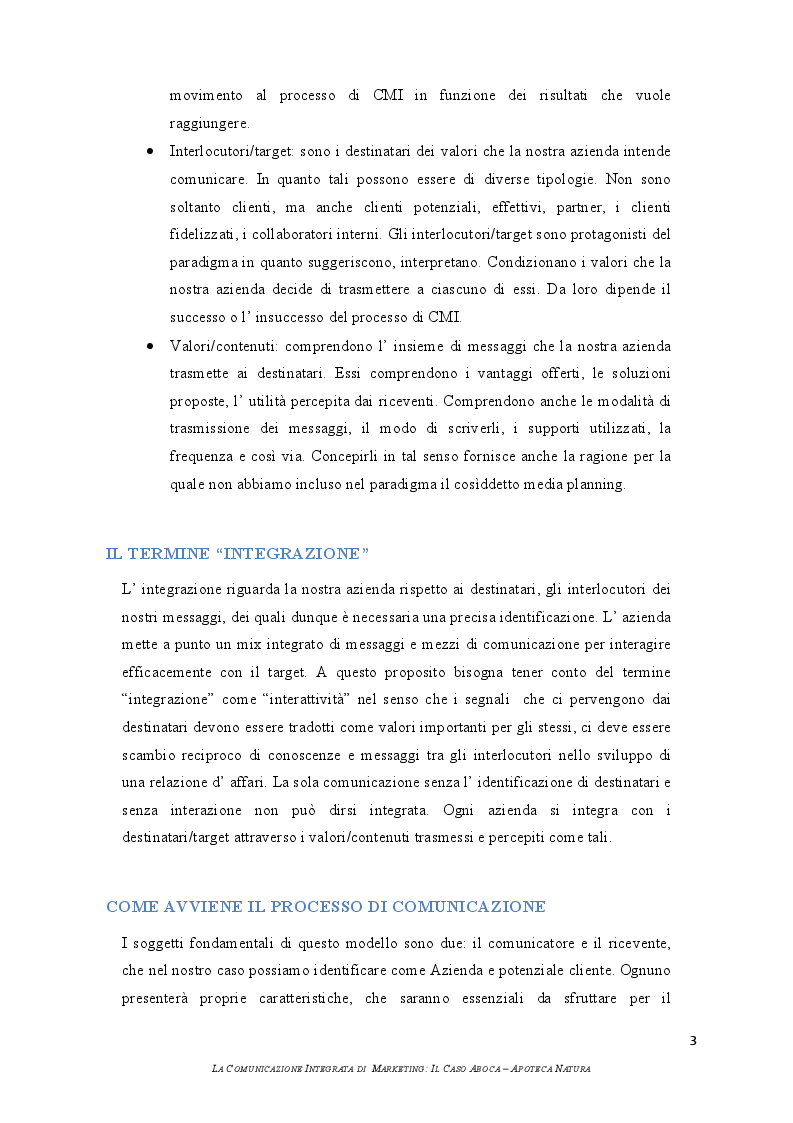 Estratto dalla tesi: La comunicazione integrata di marketing: il caso Aboca - Apoteca Natura