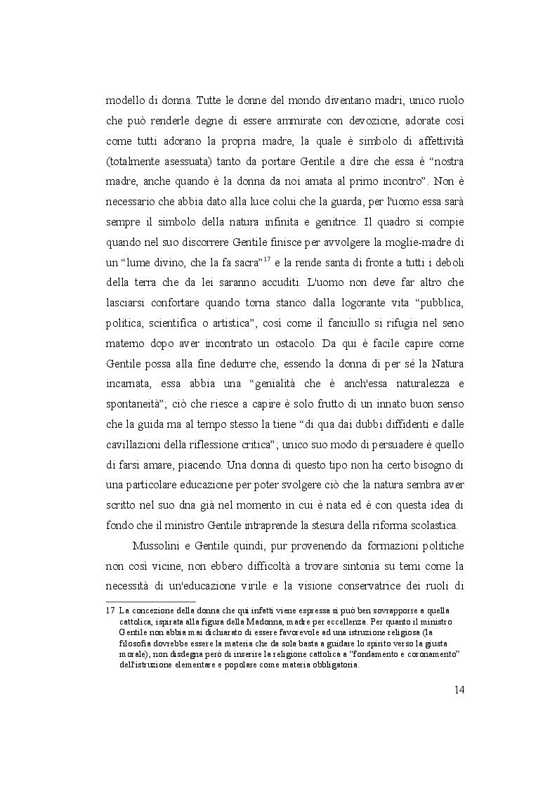 Estratto dalla tesi: Genere e Scuola: scuole elementari e istituti magistrali nell'Italia fascista
