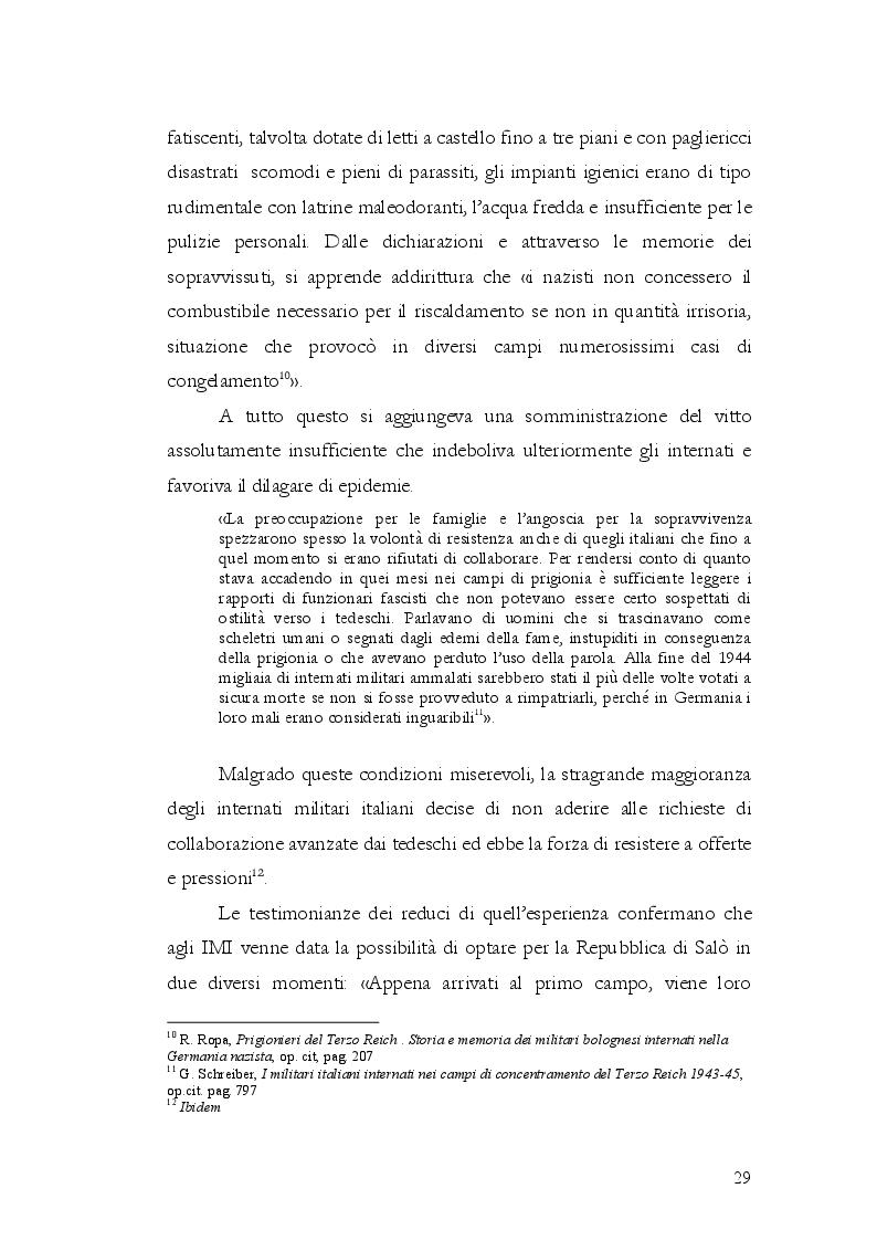 Estratto dalla tesi: Gli Internati Militari Italiani della provincia di Latina