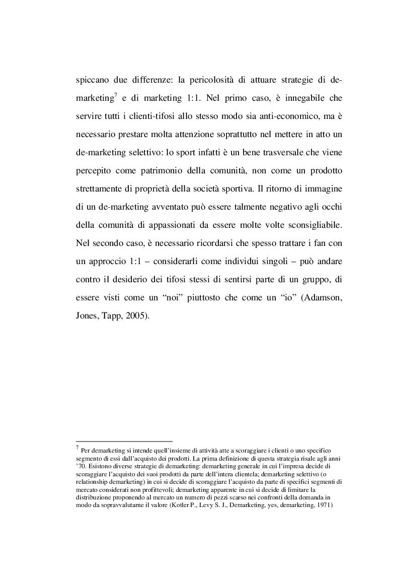 Estratto dalla tesi: La Gestione delle Relazioni con i Tifosi: Analisi Netnografica di una Fan Community Online nel Basket