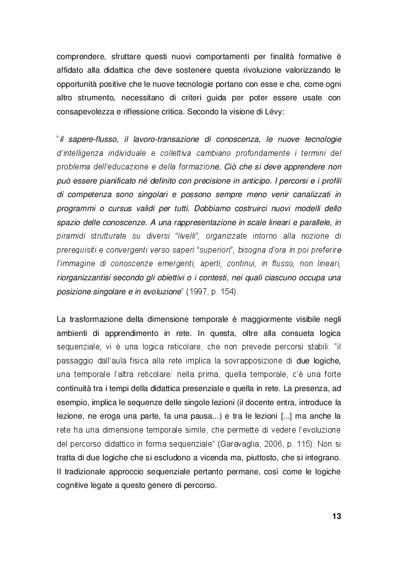 Estratto dalla tesi: Le ICT nel contesto educativo italiano. Analisi di fattibilità dei processi di innovazione didattica.