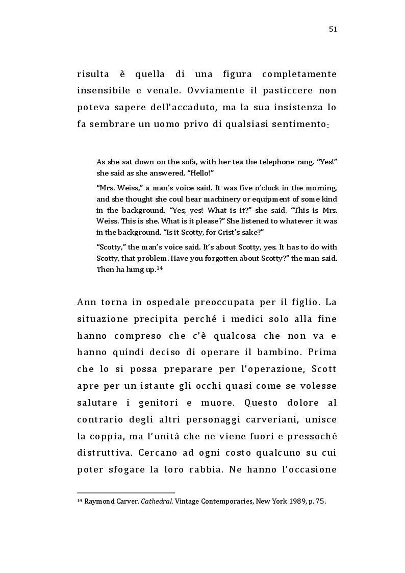 Estratto dalla tesi: Short Cuts: Raymond Carver e Robert Altman raccontano l'America