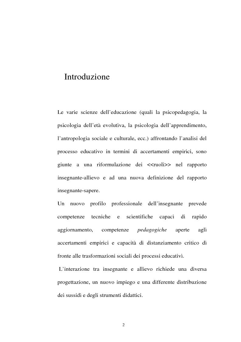 La nuova professionalità del docente di matematica - Tesi di Laurea