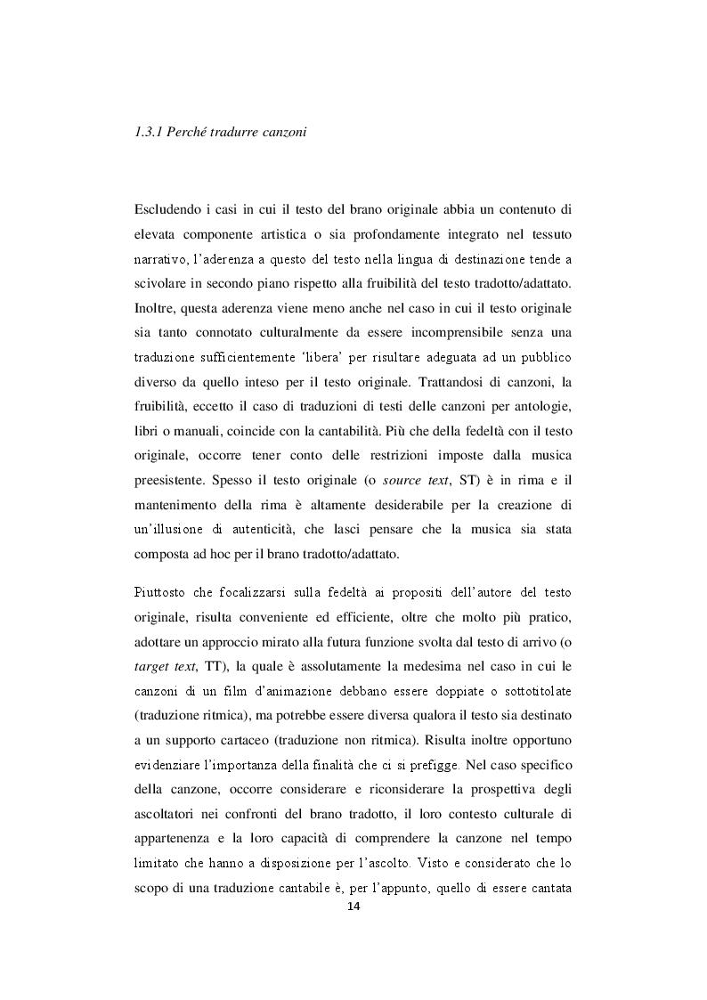 Estratto dalla tesi: Le canzoni nei classici Disney: Analisi comparativa delle versioni originali e italiane