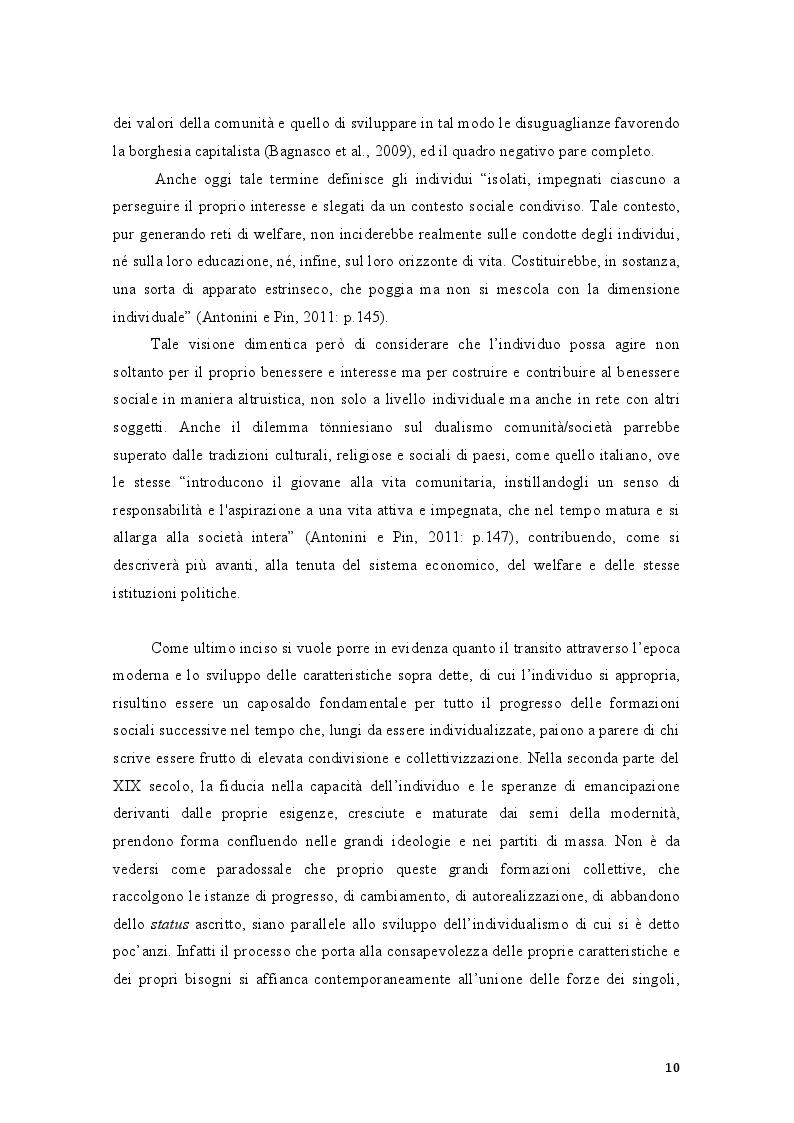 Estratto dalla tesi: La volontà del volontario. Scegliere il volontariato al tempo della crisi economica nella provincia di Rimini
