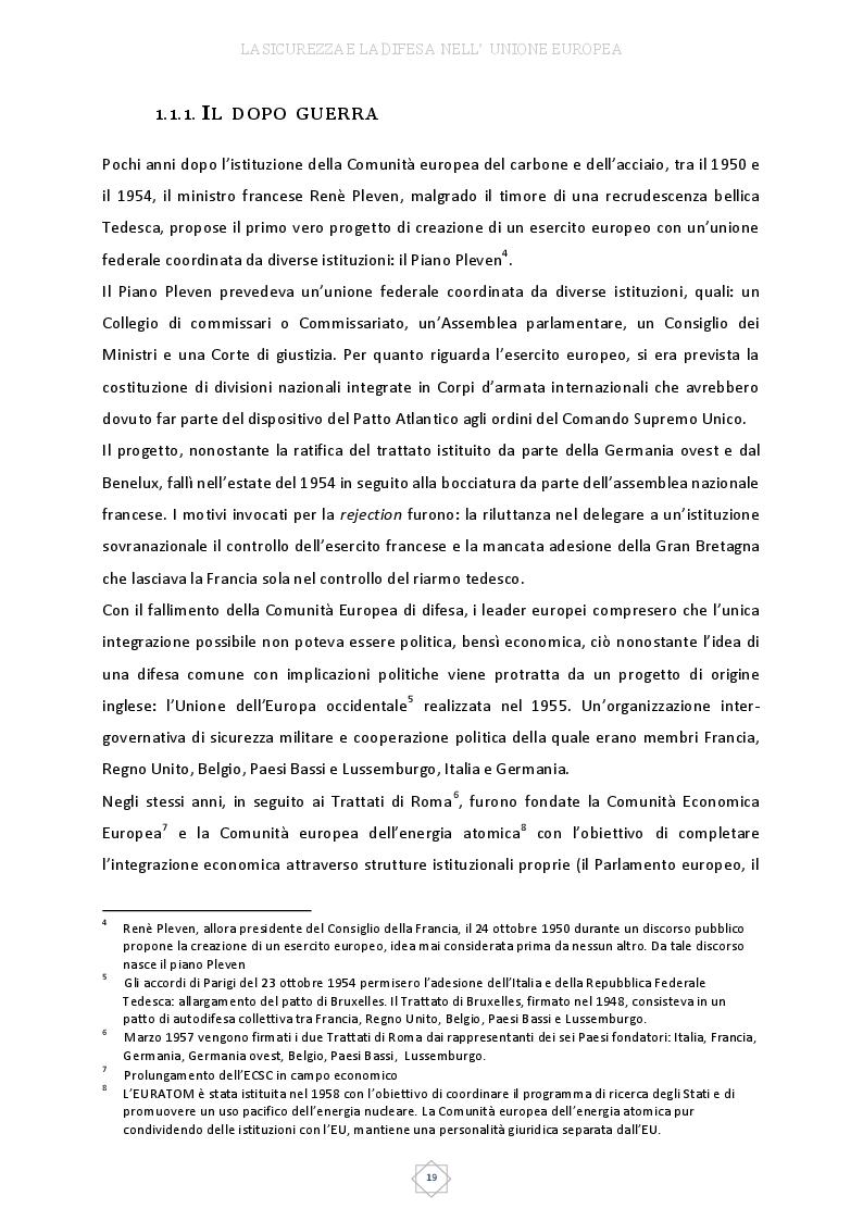 Estratto dalla tesi: Unione Europea? Possibile attore di sicurezza: evoluzione e risultati