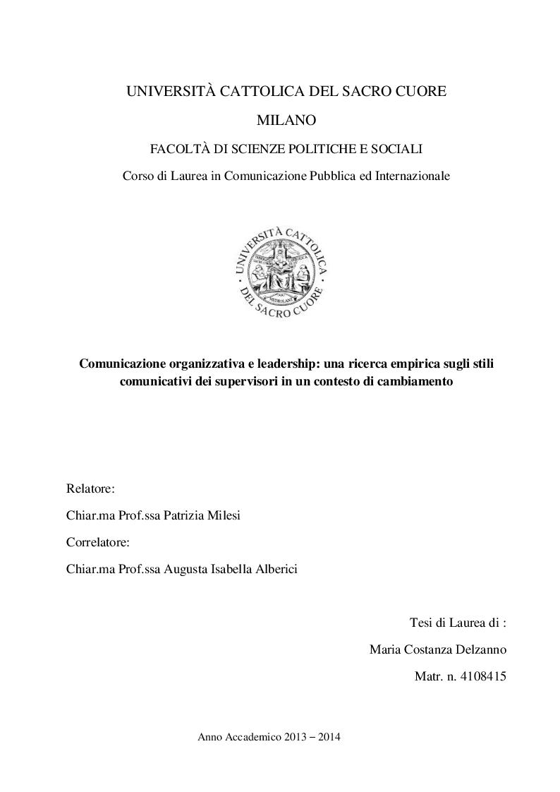 COMUNICAZIONE ORGANIZZATIVA PDF DOWNLOAD