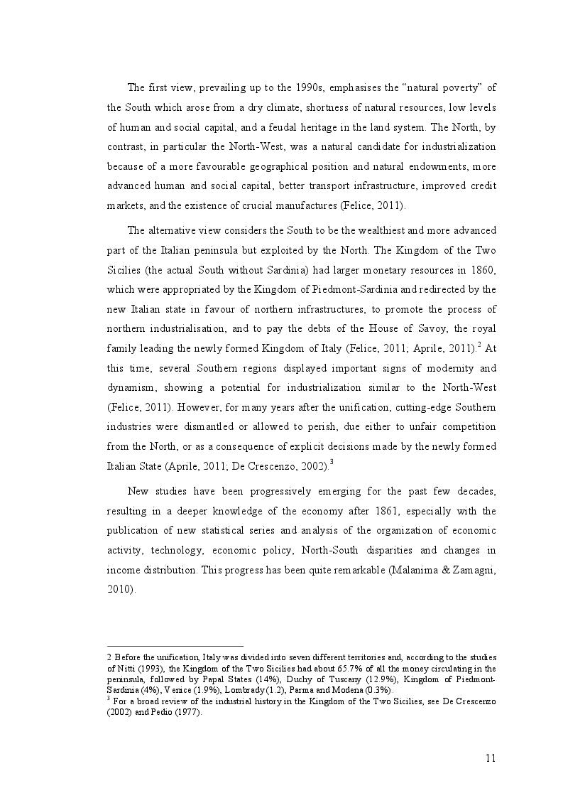 Estratto dalla tesi: An Analysis of Interregional Migration in Italy