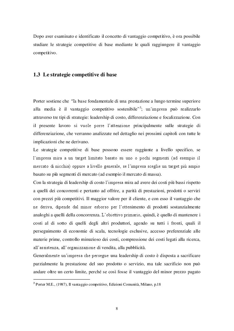 Estratto dalla tesi: Le strategie di differenziazione come fonte di potere nel mercato: analisi del caso IKEA.